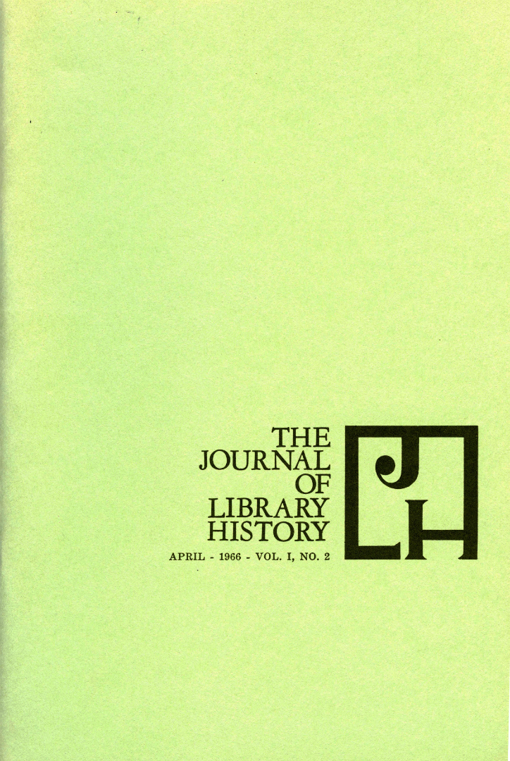 The Journal of Library History Cover 1966