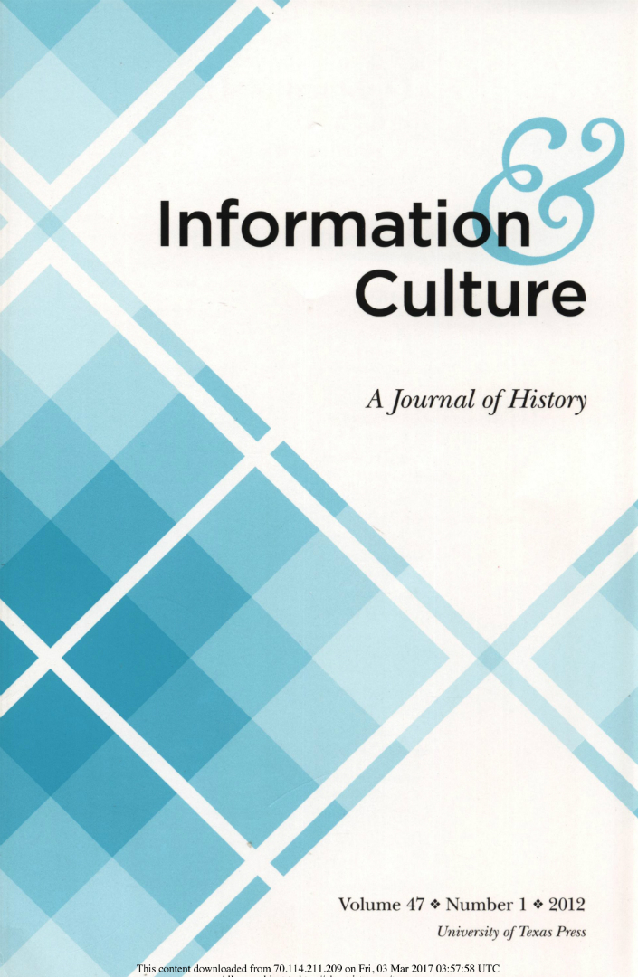 Information & Culture cover 2012
